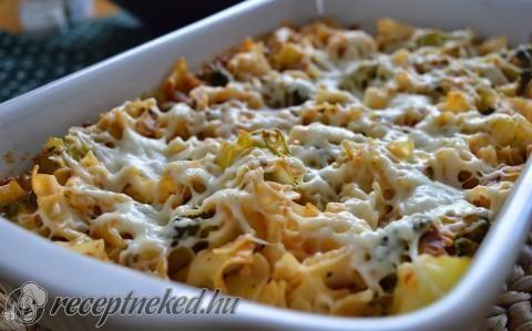 Brokkolis tészta mediterrán módra recept fotóval