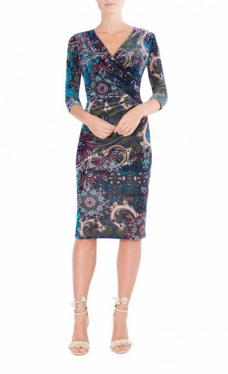 9 To 5 Style | Paisley Velour Dress
