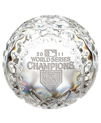 Waterford 2011 World Series St Louis Cardinals Commemorative Crystal Baseball