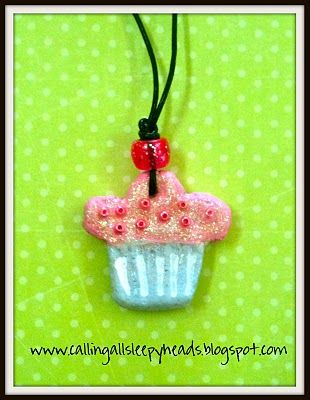 Salt dough charms for necklaces-Valentine's gifts