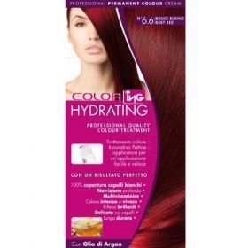 ING Βαφή Σετ Hydrating No 6.6 Κόκκινο Ρουμπινί Μόνιμη βαφή μαλλιών σε σετ. Προστατεύει και ενυδατώνει την τρίχα ενώ έχει χαμηλό ποσοστό αμμωνίας. Καλύπτει τέλεια τα λευκά μαλλιά και χαρίζει πλούσιο, βαθύ χρώμα που διαρκεί. Η συσκευασία περιέχει δυο στόμια, ένα απλό και ένα καινοτομικό στόμιο-χτένα για να επιλέξετε αυτό που σας εξυπηρετεί καλύτερα. Επιπλέον περιέχει ενυδατικό λάδι ARGAN για βαθιά ενυδάτωση και λάμψη μετά την βαφή. Τιμή €4.90