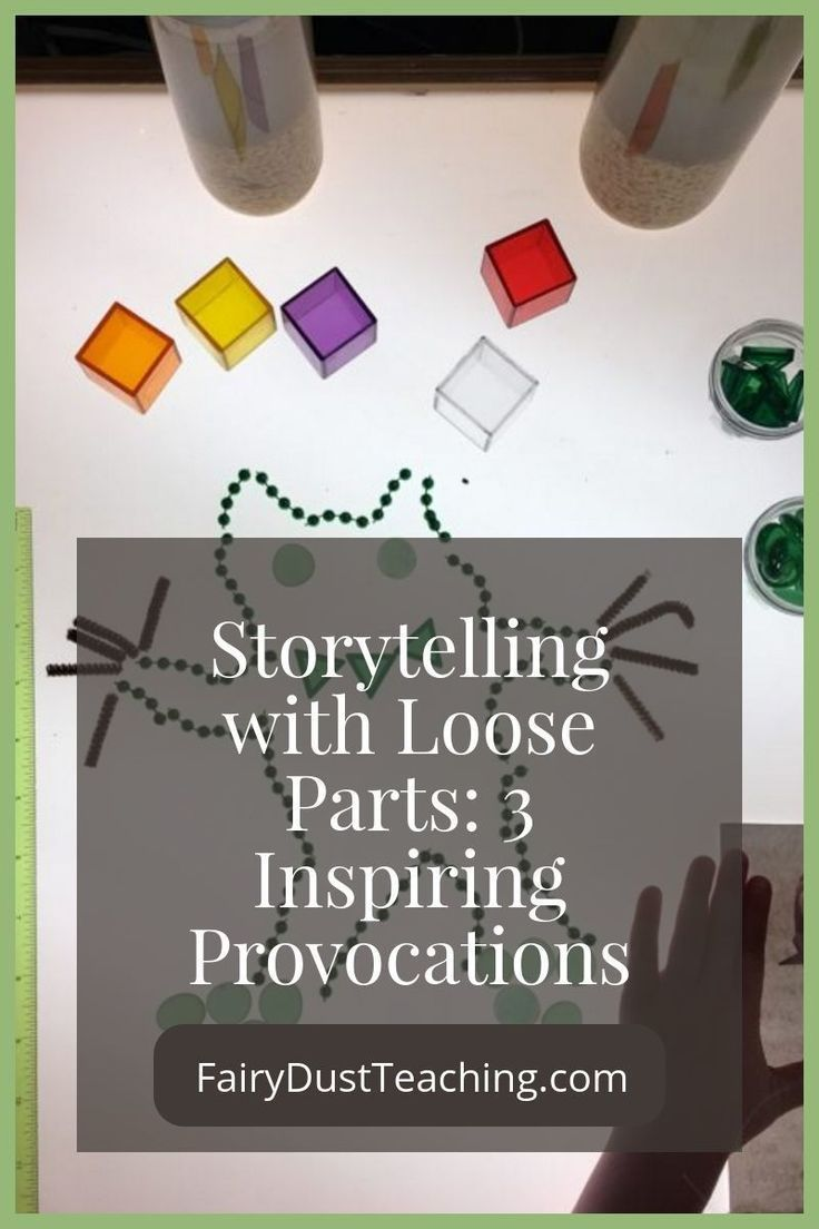 Storytelling with Loose Parts: 3 Inspiring Provocations from Fairy Dust Teaching Reggio Inspired Activities   Storytelling Ideas   Loose Parts Play