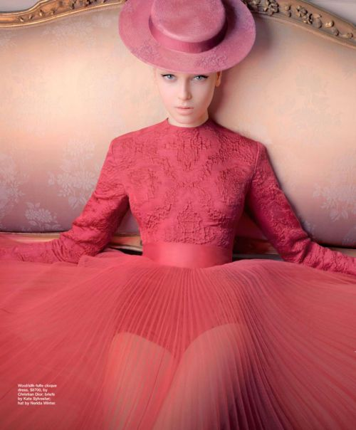 """Who's That Girl"" – Jemma Baines by Troyt Coburn for Marie Claire Australia, November 2012. Showing Nerida Winter Millinery. #passion4hats"