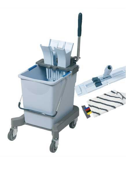UltraSpeed Cleaning Combo: UltraSpeed Cleaning Comboconsists of a bucket, a chassis, a press, a mopframe and one UltraSpeed MicroPlus mop