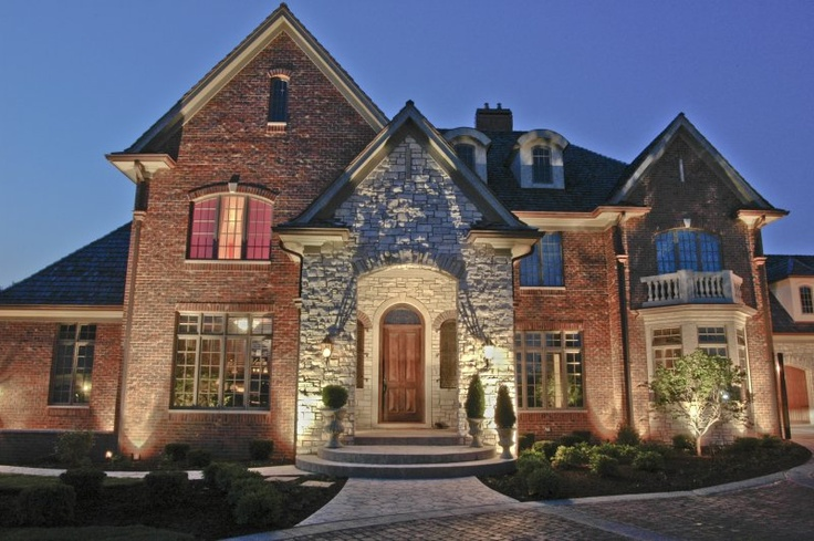 16 best images about house down lighting on pinterest Exterior accent lighting for home