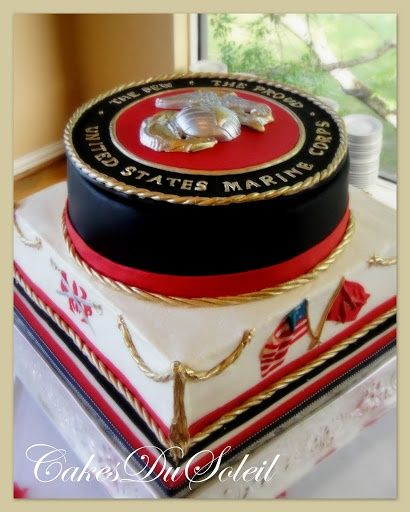 Marine Corps Groomu0027s Cake | Marine Corps Wedding Ideas | Pictures From:  Wedding  Groomu0027s