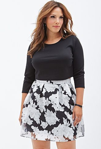 Foral A line skirt FOREVER 21 $19 1x