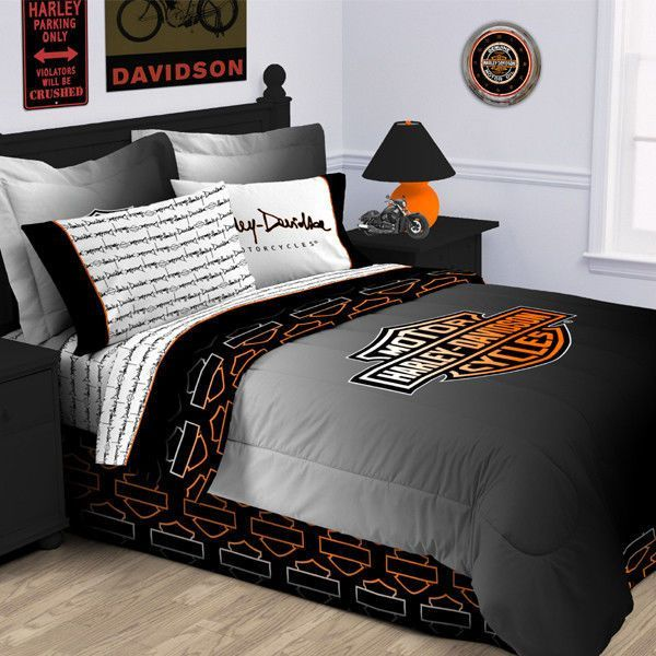 Harley Davidson Rebel Comforter-Twin Size