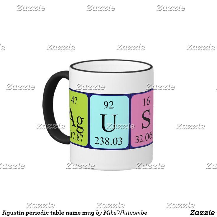 Agustin periodic table name mug