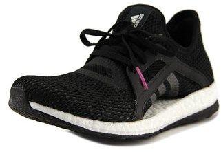 adidas Pure Boost X Women Round Toe Canvas Black Running Shoe.