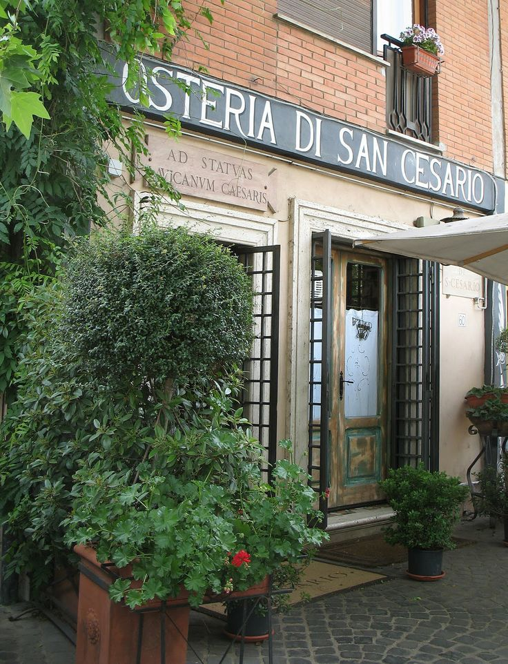 The entrance of the Osteria