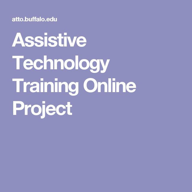 Assistive Technology Training Online Project