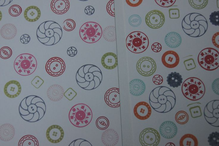 button patterned cards