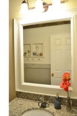 framed bathroom mirror i really need to get on this - Bathroom Mirror Ideas