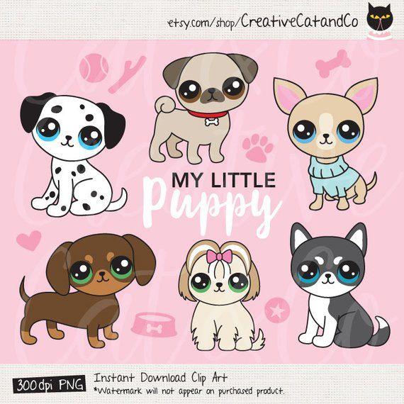Puppy Dog Breed Clip Art Chihuahua Pug Shih Tzu Dachshund Weiner