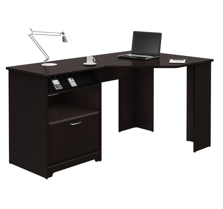 Black Corner Desk With Drawers