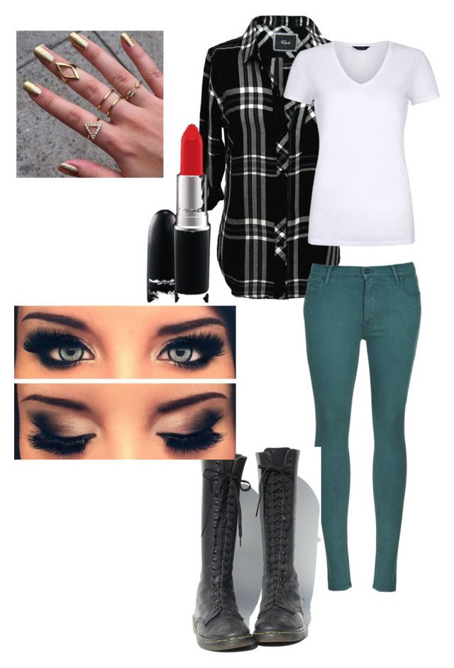 Untitled #1 by tadevicha on Polyvore featuring polyvore, fashion, style, Rails, Mother, Dr. Martens and MAC Cosmetics