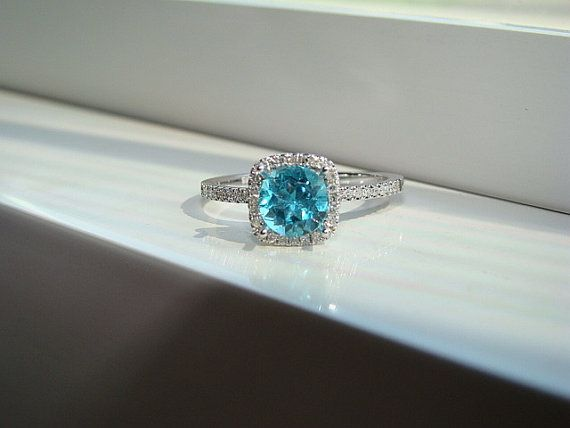 Best 25 Teal engagement ring ideas on Pinterest