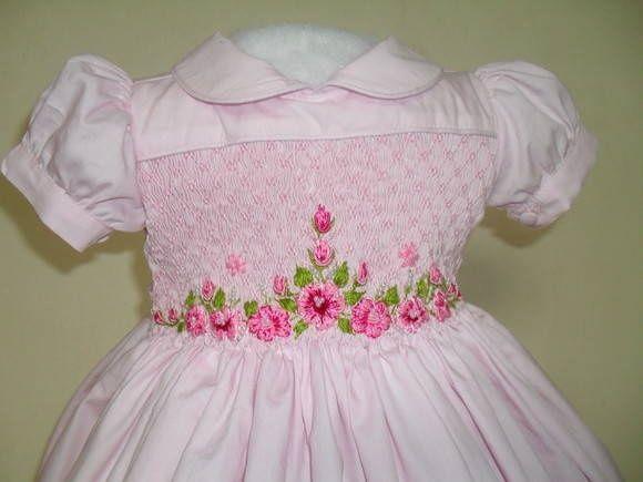 beautiful smocked baby dress