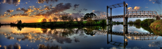 Sunset over Paterson River, NSW, Australia