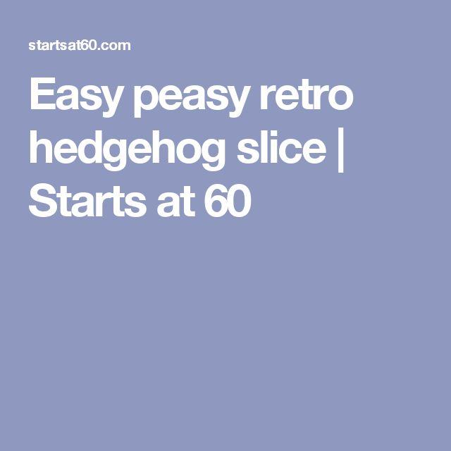 Easy peasy retro hedgehog slice | Starts at 60