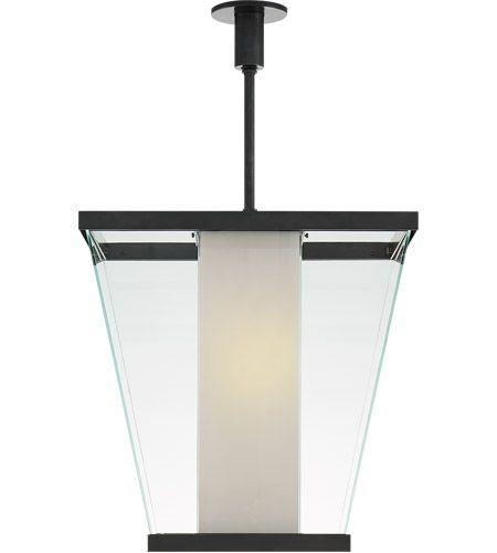 Visual Comfort SC5020BZ-WG Eric Cohler Marin 6 Light 21 inch Bronze Foyer Lantern Ceiling Light, Eric Cohler, Medium, White Glass #LightingNewYork