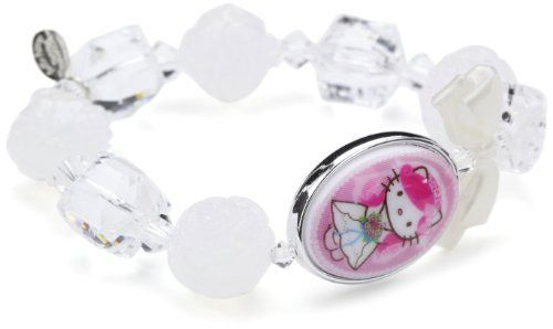 "Tarina Tarantino Hello Kitty ""Pink Head"" Portrait Bride Stretch Bracelet TARINA TARANTINO. $45.00. Multi beaded stretch bracelet featuring a double sided portrait Lucite cameo and Swarovski crystal detail; Packaged in a signature organza bag with limited edition carding; Made in USA; Made in United States; Handmade in the United States"