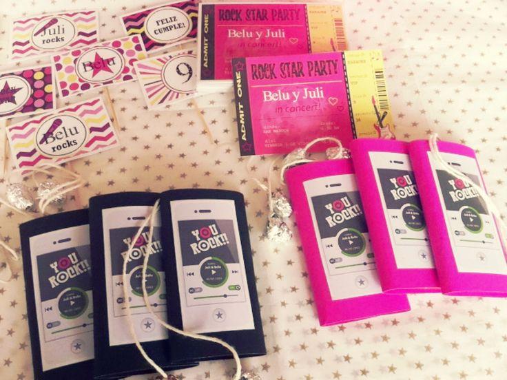 Ipods para Cumpleaños Rock Star by www.tiendadoilies.com.ar
