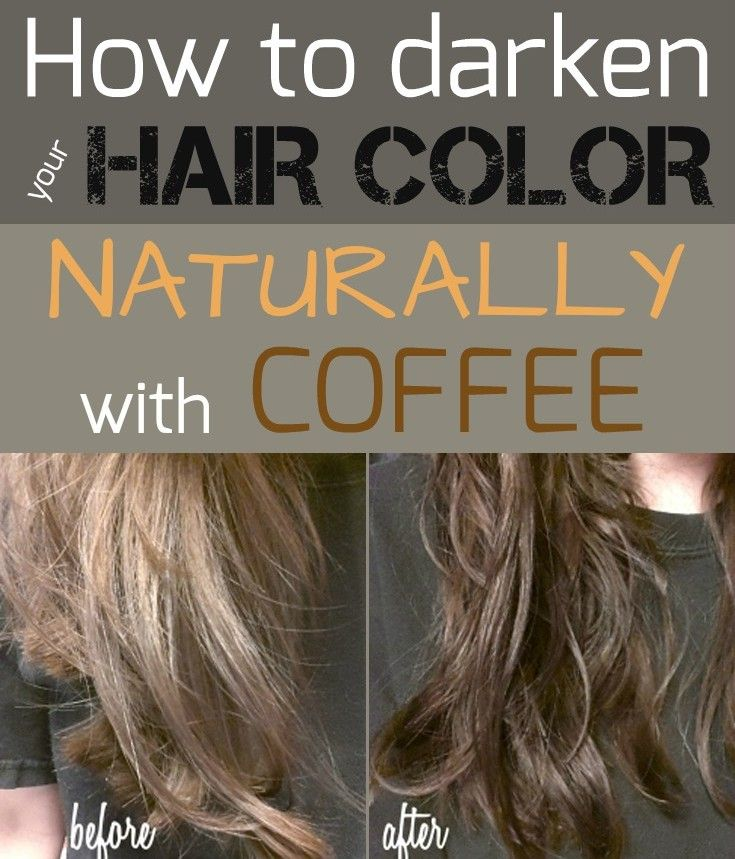 Learn how to darken your hair color naturally with coffee.