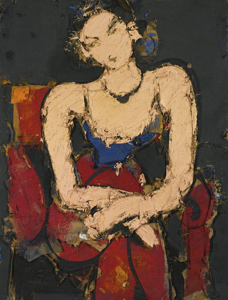 'Claudette Sentada' (2009) by Manolo Valdés