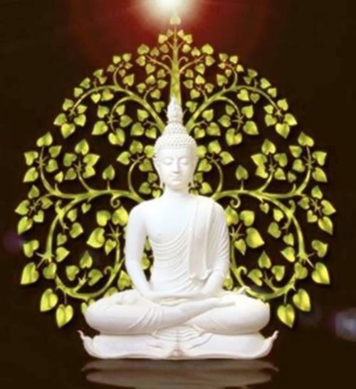 ~ White Beautiful #Buddha ~  #buddhist #art