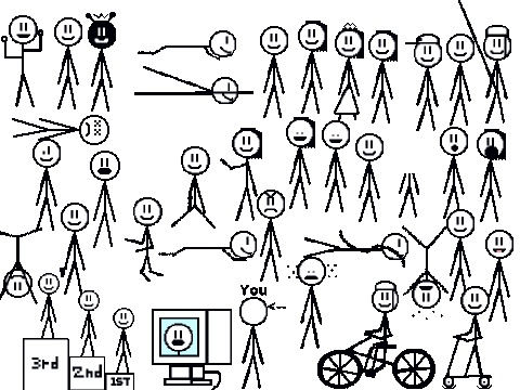 This is a great set of animated stick figures to inspire