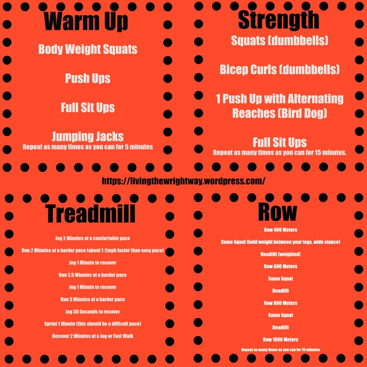 An orange theory inspired total body workout.  Treadmill, Rowing and Strength Training.