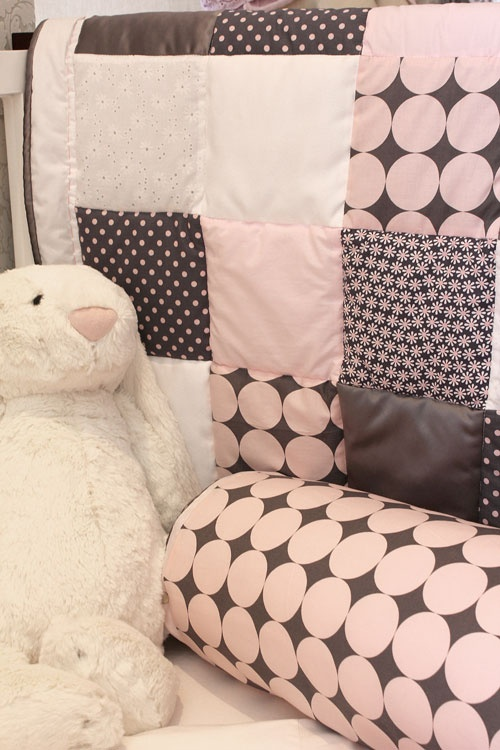 Glam Baby South Africa - Stunning pink and grey quilt perfect for a little girl.