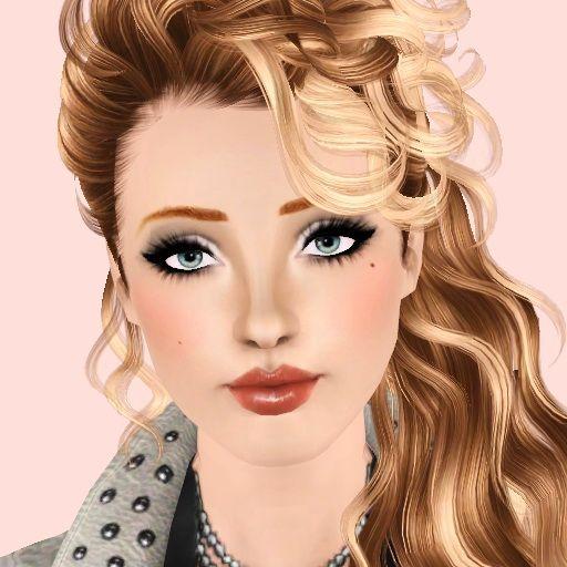 allison female model by brittany sims 3 downloads cc caboodle sims pinterest penteados. Black Bedroom Furniture Sets. Home Design Ideas