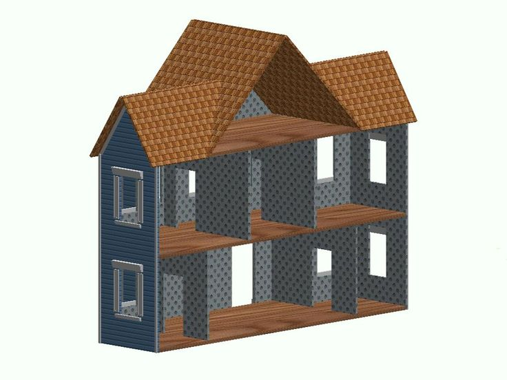 Simple To Build Doll House Click Here To Go Back To