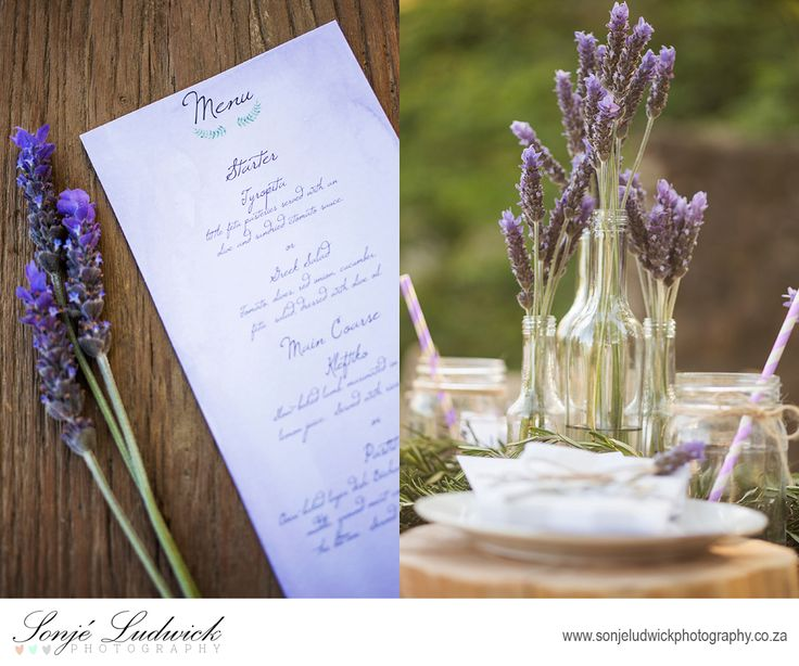 Purple lavender wedding stationary.