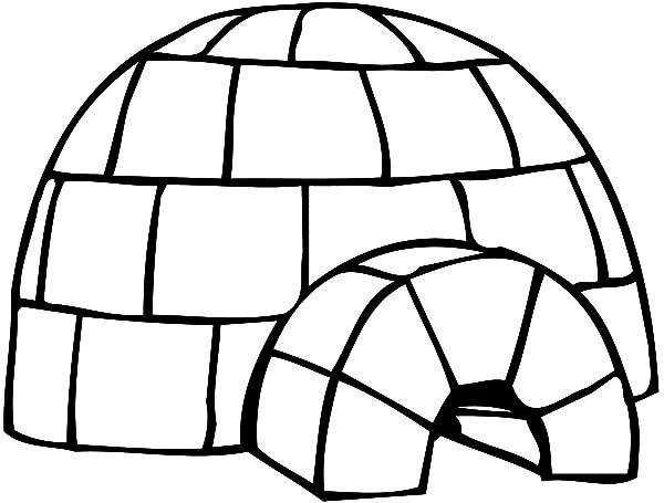 Igloo Clipart Coloring Pages Printable Coloring Pages Printable Coloring