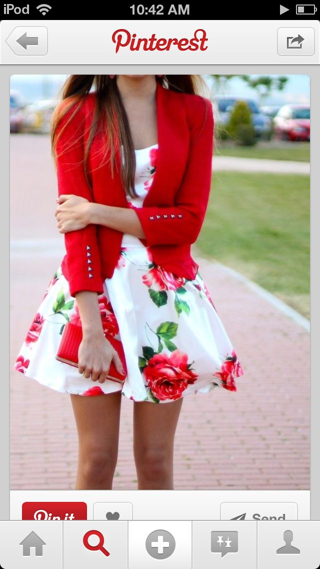 Teen fashion Teen Fashion summer fashion floral clothing skirts and shorts Strapless cute outfits