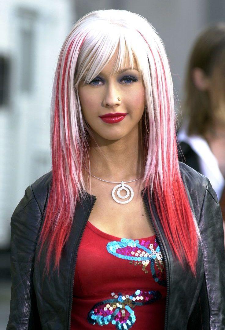 Http Omundodelua Com Christina Aguilera Black And Blonde Hair Christina Aguilera Hair Christina Aguilera Red Hair Christina Aguilera Young
