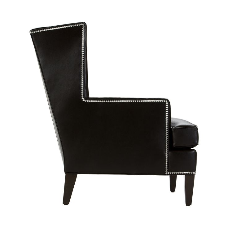 Parker Leather Chair, Turin/ Black   Ethan Allen US