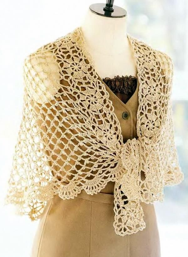 Crochet Lace Shawl Pattern for Summer - Delicate