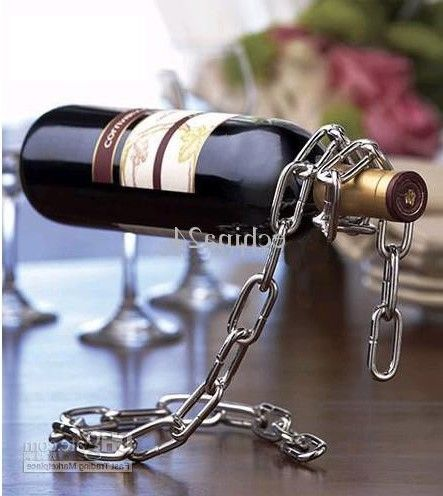 Chain wine suspension holder