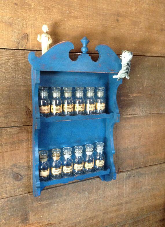 Spice Rack, Spice Cabinet, Wooden Spice Rack, Farm Style Spice Rack,Nail Polish Rack, Distressed Spice Rack, Shabby Chic, Vintage Spice Rack