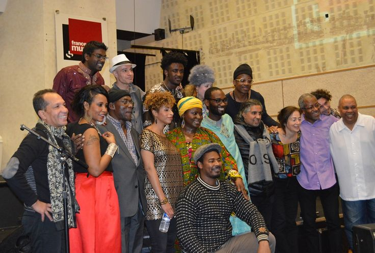 "Faytinga - Group photo following the public recording of France Musique emission Couleurs du Monde ""Mama Africa"" on 4-Jan-2016 ǀ © Dominique Mathiot"