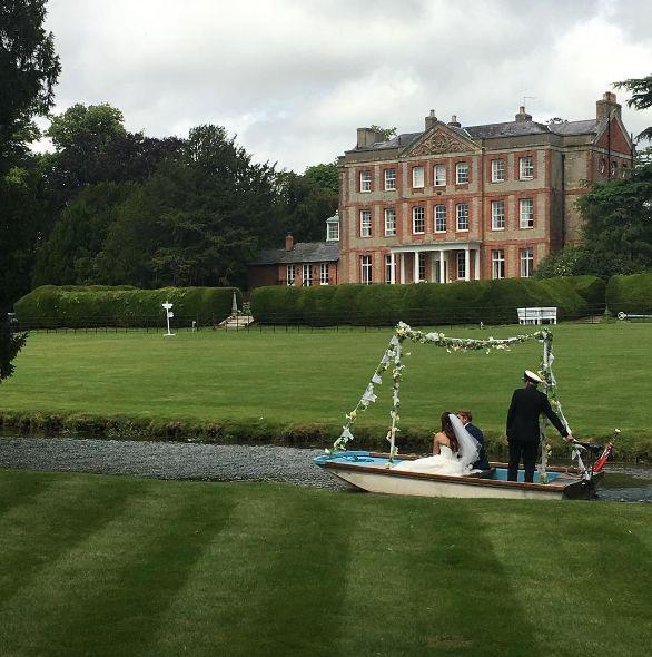 wedding boat, island wedding, manor house wedding venue, creative weddings, unusual wedding transport