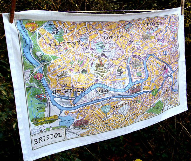 New Bristol Map tea towel by emmeline simpson | notonthehighstreet.com
