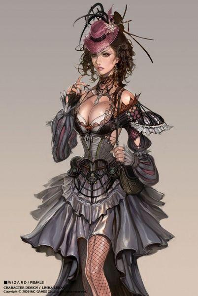 kinda steamy: Female Wizard - character concept art by Limha Lekan for Granado Espada