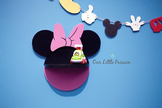 Minnie Mouse Shelf Shelf For Baby Nursery Kids Room Wall