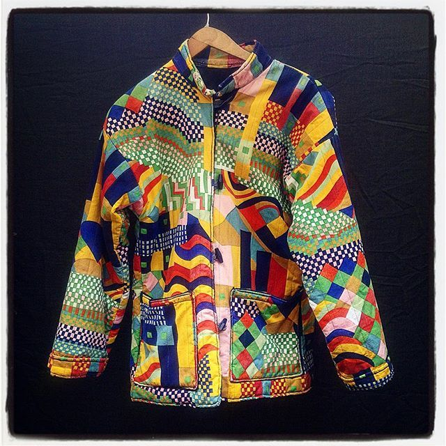 """Bauhaus Beauty @somebodyandsons 1970s Collier Campbell Bauhaus print Workers Jacket #bauhaus #colour #vintageprint #colliercampbell"" Photo taken by @somebodyandsons on Instagram, pinned via the InstaPin iOS App! http://www.instapinapp.com (04/01/2016)"